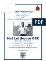 Nat Lofthouse Order of Service
