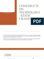 CONSTRUCTION TECHNOLOGY-STATIC CRANES