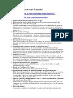 61 Questions pour devenir francais