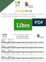Lista de Libre 21