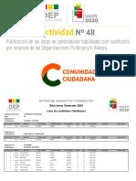 Lista Comunidad Ciudadana (CC)