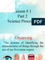 LESSON 1 - SCIENCE-PROCESSES AUG. 27