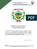 TDR 08  - EJECUCION DE OBRA MANTENIMIENTO DEL SISTEMA ELECTRICO DE LA MUNICIPALIDAD