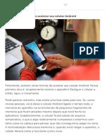 Como acelerar seu celular Android