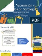 VPH vacunación y serología Daniela Torres Llinás