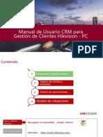 Manual de Usuario CRM para Gestión de Clientes Hikvision