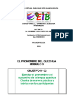 QUECHUA 2020 - curso virtual quechua 3