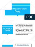 Planning to write an essay IELTS