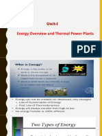 UNIT-I Energy Overview and Thermal Power Plants