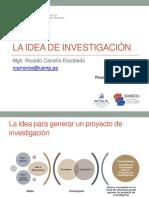 Clase 0 - La idea de investigación