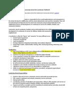CLC Coordinator Job Description Template