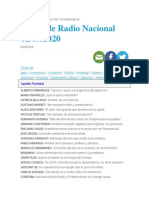 Diario de Radio Nacional Argentina 02-09-2020