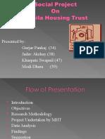 Social Project Presentation on Mahila Housing Sewa Trust Mht-sewa