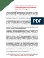 """Orientaciones políticas del Comandante Chávez en acto en la Unidad de Producción Socialista """"La Productora"""", Guanare Estado Portuguesa."""