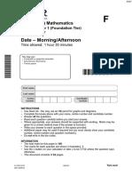 Practice QP - Paper 1 OCR Maths GCSE