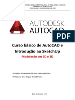 Curso básico de AutoCAD e Introdução ao SketchUp