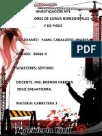 TRABAJO DE INVESTIGACIÓN DE DELINEADORES DE CURVAS HORIZONTALES Y DE PISOS