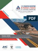 congreso vial en mendoza 2020 octubre