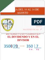 PRESENTACIÓN clase tercero SEMANA DEL 03 AL 06 DE AGOSTO