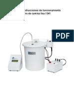 Manual de instrucciones de funcionamiento del calorímetro de camisa lisa 1341