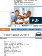 Loyalty – A Marketers Conundrum(5)