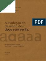 A evolução do desenho dos tipos sem serifa