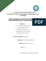 CONCLUSIONES DE LOS PRINCIPALES INDICADORES MACROECONÓMICOS EN EL ANÁLISIS EMPRESARIAL