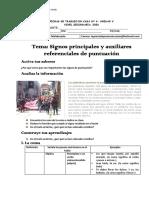 FICHA DE TRABAJO DE SIGNOS PRINCIPALES Y AUXILIARES
