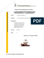 T1. La doble tributación internacional. características y consecuencias
