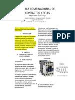 LÓGICA COMBINACIONAL DE CONTACTOS Y RELÉS