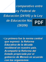 Análisis Comparativo Entre La Ley Federal de Educación