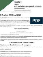 El Analisis DAFO del 2020