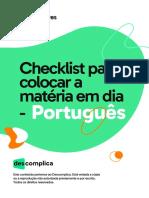 Checklist para colocar a matéria em dia - Português