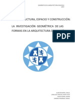GEOMETRÍA DE LAS FORMAS EN LA ARQUITECTURA DE GAUDÍ