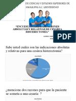"""""""ENCUESTA SOBRE INDICACIONES ABSOLUTAS Y RELATIVAS DE CESÁREA HISTERECTOMÍA"""".pptx"""