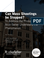 Gun Violence Research Consortium's Policy Brief was released, Can Mass Shootings Be Stopped?
