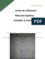 Informe de calibración