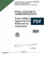 FDA Aspartame