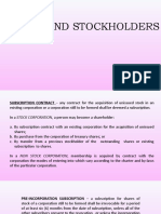 STOCKS AND STOCKHOLDERS