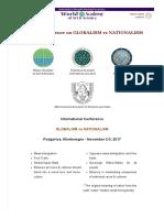 International Conference on GLOBALISM vs NATIONALISM _ World Academy of Art & Science.pdf