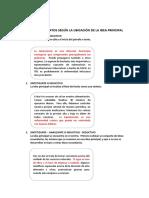 TIPO DE TEXTOS SEGÚN LA UBICACIÓN DE LA IDEA PRINCIPAL