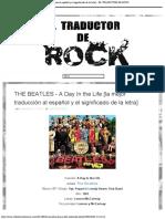 THE BEATLES - A Day In the Life [la mejor traducción al español y el significado de la letra] - EL TRADUCTOR DE ROCK