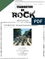 THE BEATLES - Because [traducida al español] - EL TRADUCTOR DE ROCK
