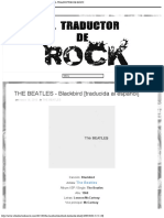 THE BEATLES - Blackbird [traducida al español] - EL TRADUCTOR DE ROCK
