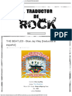 THE BEATLES - Blue Jay Way [traducida al español] - EL TRADUCTOR DE ROCK