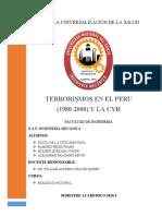 CRONOLOGIA DEL TERRORISMO EN EL PERU