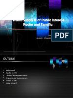 When Supply is of Public Interest Roche and Tamiflu