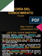 TEORIA DEL CONOCIMIENTO 1ra CLASE