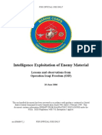 Intelligence exploitation of enemy material