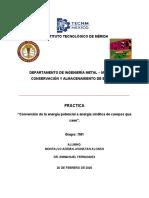 Practica 1 - Conservacion y almacenamiento de energia - Montalvo Adrian
